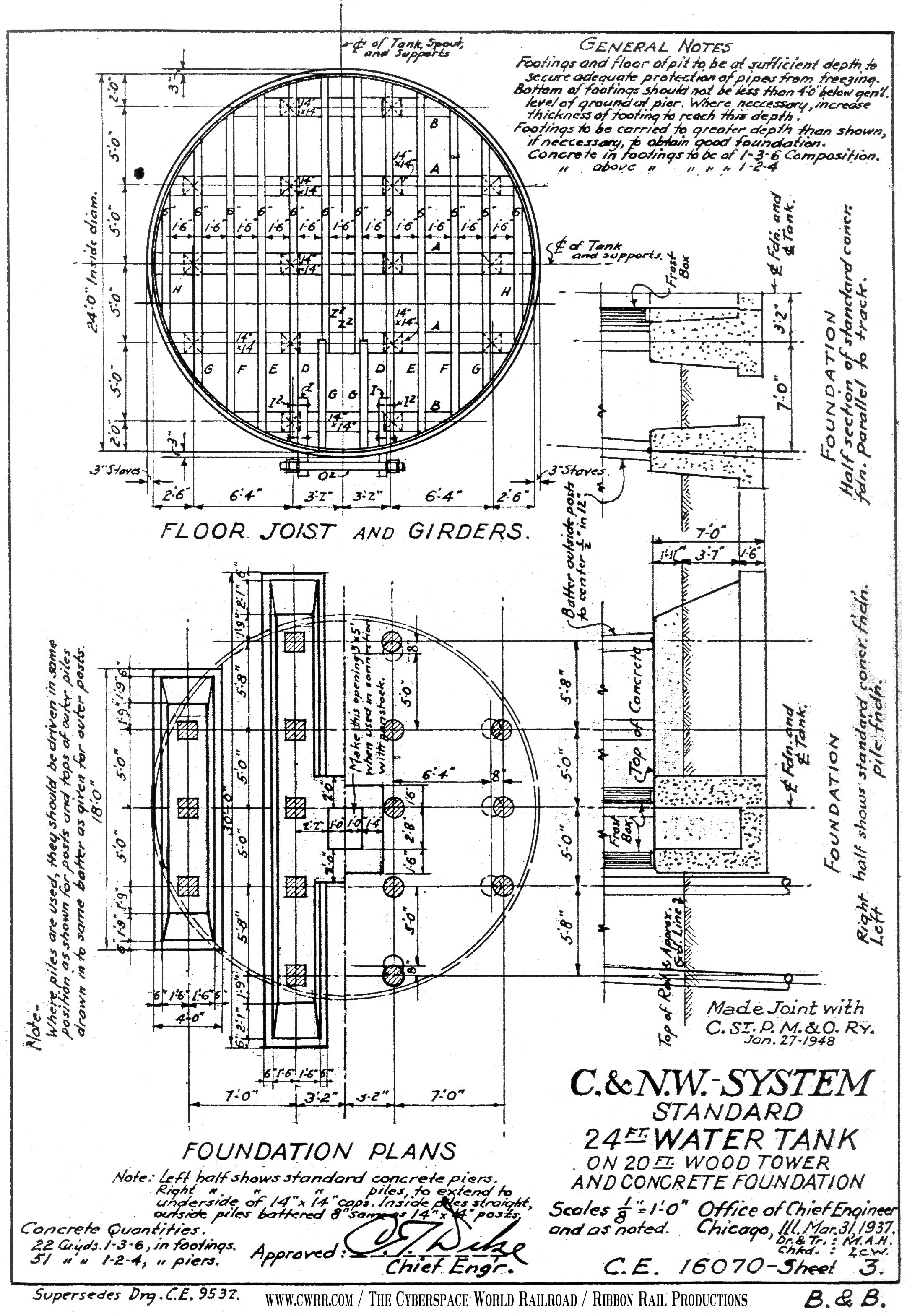Water tower design drawings images for Cistern plans